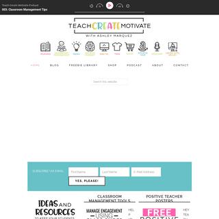 Teach Create Motivate - A motivational website with creative resources for teachers.