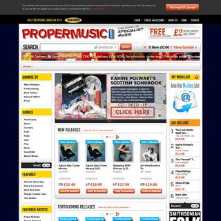 ArchiveBay.com - propermusic.com - propermusic.com — The Home of Specialist Music - propermusic.com