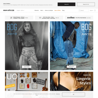 Urban Outfitters UK - Clothing & Apparel - Lifestyle & Homeware
