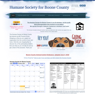 Humane Society for Boone County - Info