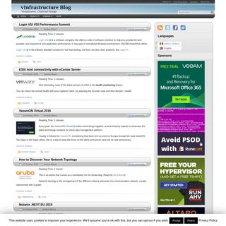 vInfrastructure Blog - Virtualization, Cloud and Storage