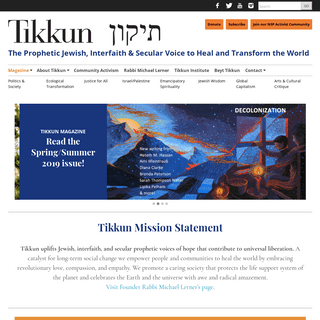 ArchiveBay.com - tikkun.org - Tikkun - The Prophetic Jewish, Interfaith & Secular Voice to Heal and Transform the World