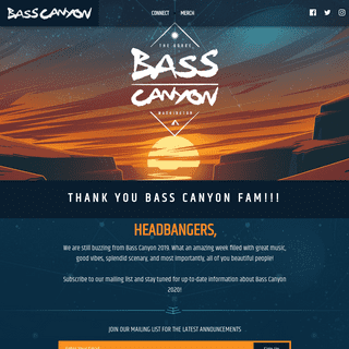 Bass Canyon Festival Featuring Excision - The Gorge Aug 23 - 25
