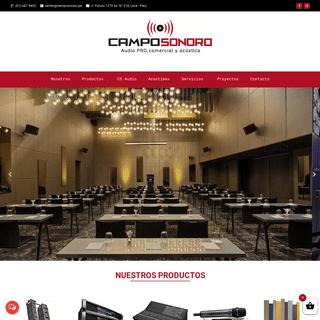 Sistemas de perifoneo, audio profesional, comercial y acústica