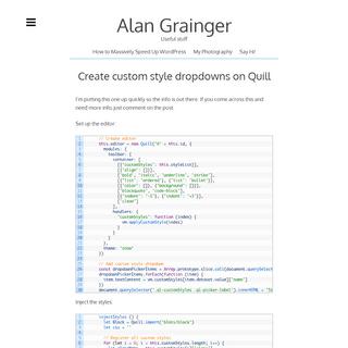 Useful stuff - Alan Grainger