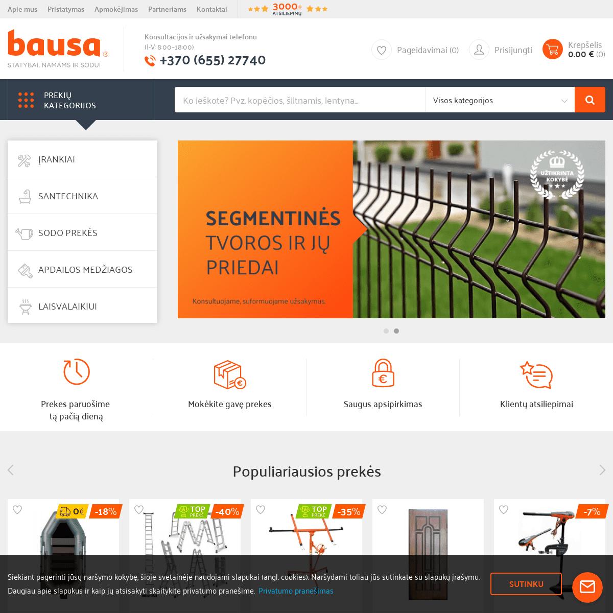 Elektroninė parduotuvė - Bausa.lt