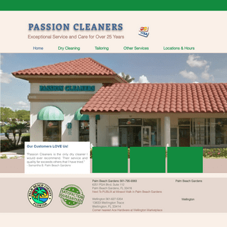 Passion Cleaners - Wellington - Palm Beach Gardens