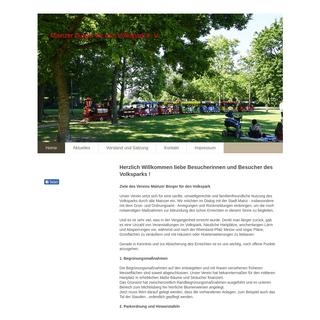 ArchiveBay.com - mainzer-volkspark.de - Mainzer Bürger für den Volkspark e. V. - Home
