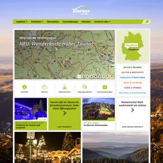 Taunus. Die Höhe. - Website der Freizeitregion Taunus - Taunus.info