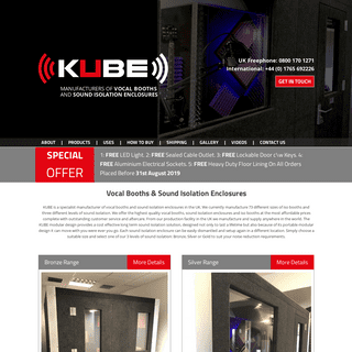 Buy a dependable Vocal Booth for Recording - Kube Vocal Booths