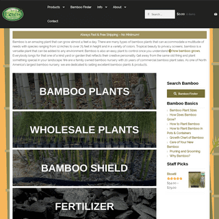 Lewis Bamboo - Bamboo Plants & Products for Sale