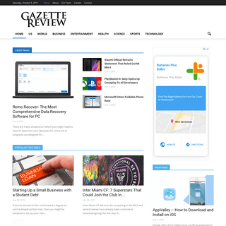 Gazette Review - Breaking News, Editorials, and Product Reviews