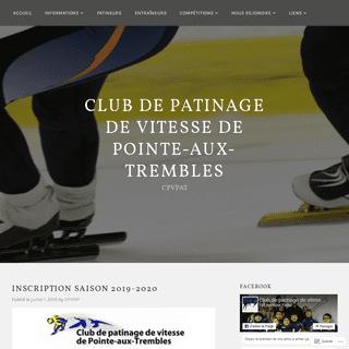 Club de patinage de vitesse de Pointe-aux-Trembles – CPVPAT