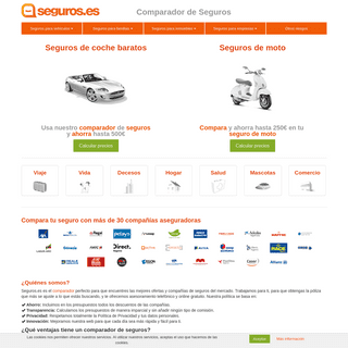 Comparador de seguros baratos, seguros coche, moto - Seguros.es