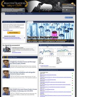 MasterTraders- Trading - Trader - Aktienkurse - Chartanalyse - Aktien - Realtimekurse - Börsenkurse