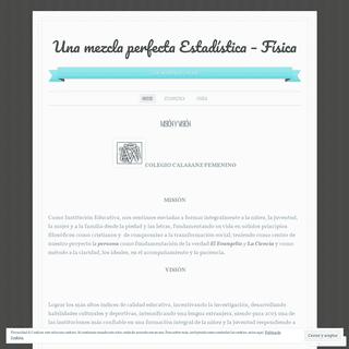 Una mezcla perfecta Estadística - Física - A fine WordPress.com site