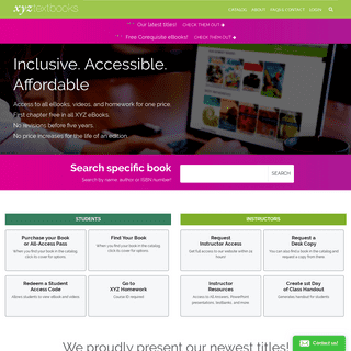 XYZ Textbooks- Home Page
