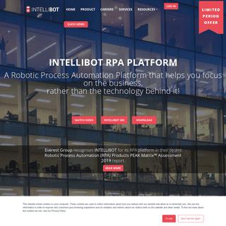 Robotic Process Automation - RPA Platform - Intellibot