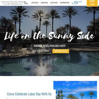 ArchiveBay.com - goldenvillagepalms.com - Golden Village Palms RV Resort - Southern California RV Park