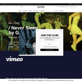 ArchiveBay.com - vrients.com - Vrients Fashion - Menswear Online Shop - VRNTS.com