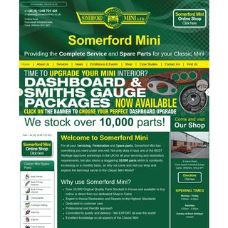 Mini Specialists - Mini Spares - Mini Restoration - Mini Customisation - The Classic Mini - Somerford Mini