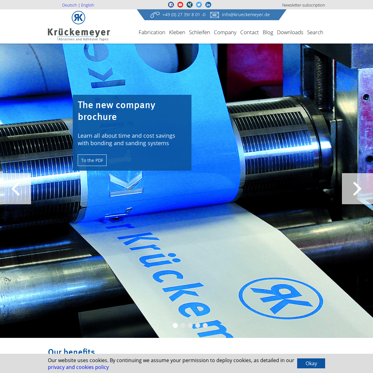 Your specialist for abrasives and adhesives - Krückemeyer GmbH