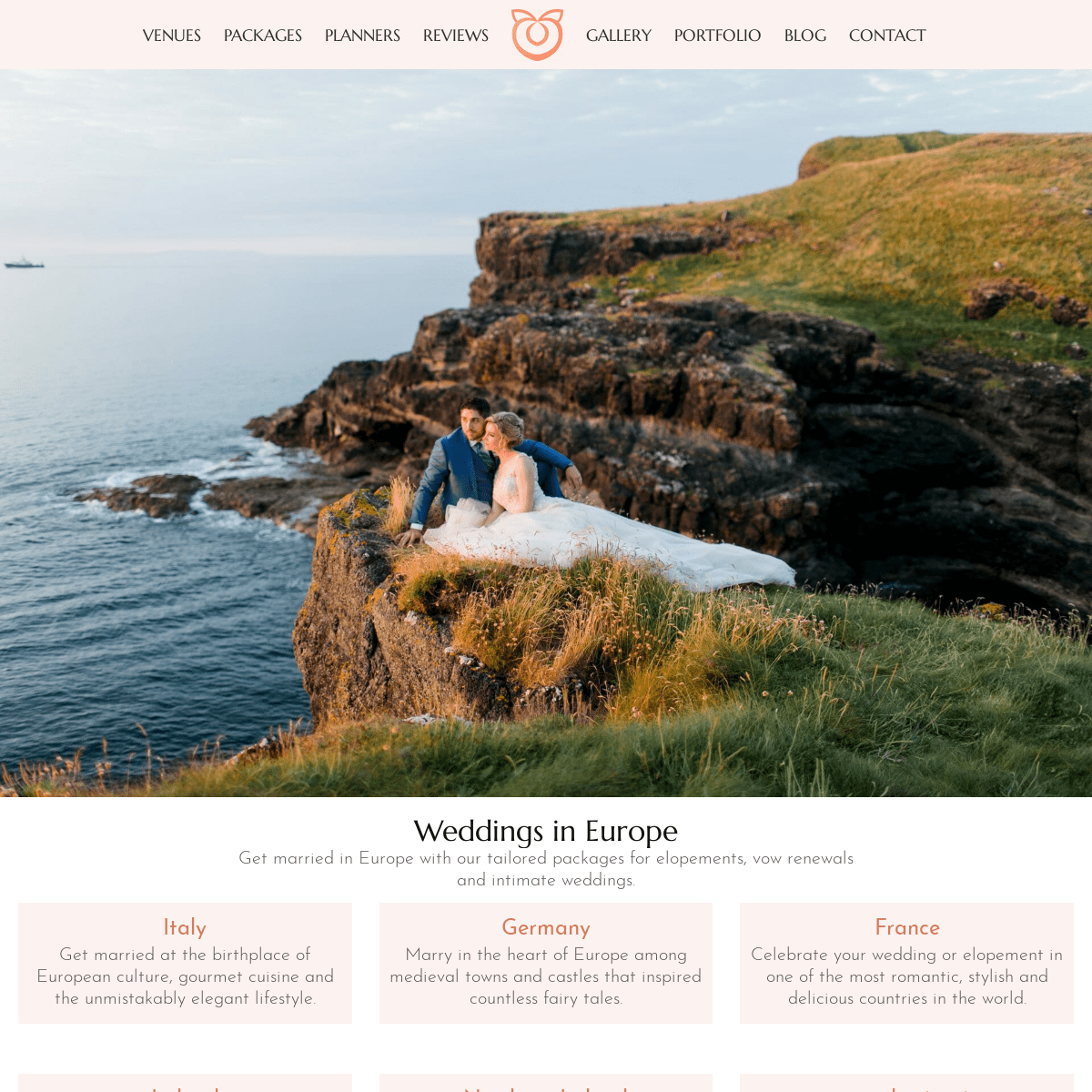 Wedding in Europe - packages for destination weddings and elopements