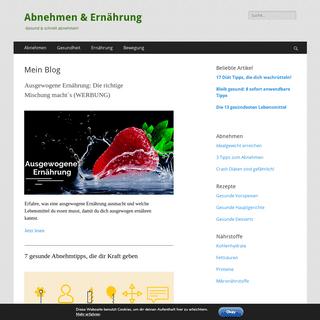 Der Abnehmen Blog- Erfahre, wie du gesund abnehmen wirst