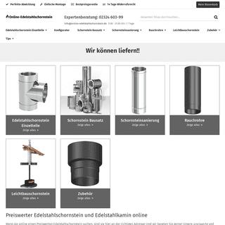 Preiswerter Edelstahlschornstein und Edelstahlkamin online