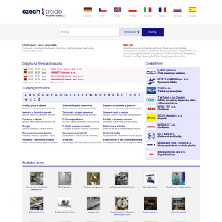 CzechTrade - databáza - služby, dodávatelia, výrobci, exportéri a importéri