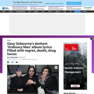 ArchiveBay.com - www.usatoday.com/story/entertainment/music/2020/02/21/ozzy-osbournes-ordinary-man-prince-darkness-heavy-lyrics/4822363002/ - Ozzy Osbourne's 'Ordinary Man'- Prince of Darkness' heavy lyrics