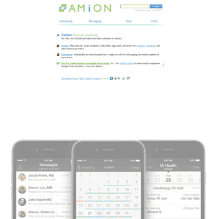 Amion Physician Scheduling and messaging for groups and whole hospitals