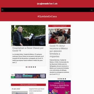 ArchiveBay.com - lajornadasanluis.com.mx - La Jornada de San Luis – Periódico digital con las últimas noticias de San Luis Potosí, Nacionales y estados. Columnas, Car