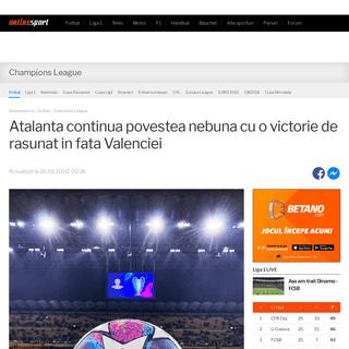 Atalanta continua povestea nebuna cu o victorie de rasunat in fata Valenciei - Onlinesport.ro