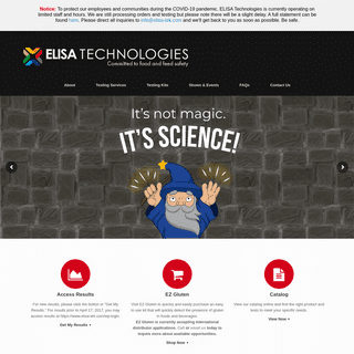 ELISA Technologies, Inc. - Laboratory Testing Services and Diagnostic Kits - Meat Speciation - Gluten Food Testing