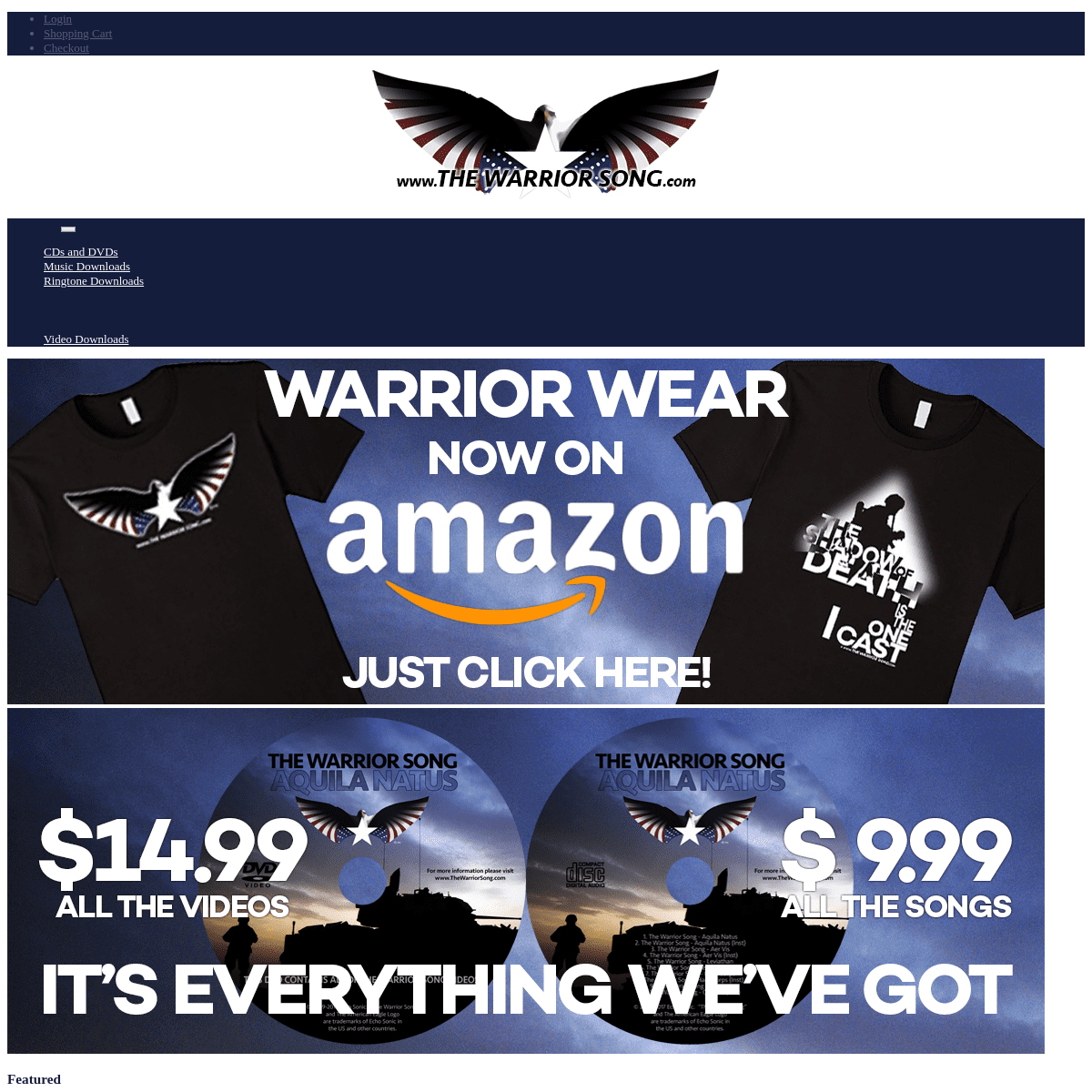 The Warrior Song Web Store