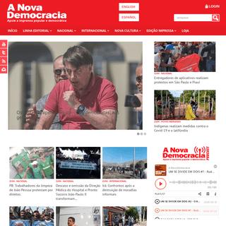 Apoie a imprensa popular e democrática - A Nova Democracia