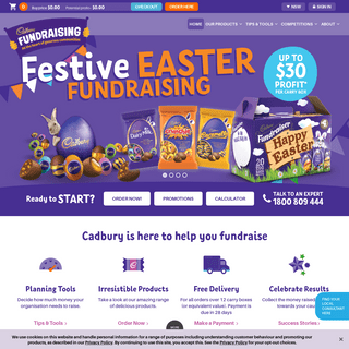 Fundraising ideas and products in Australia for schools, clubs, businesses, and individuals! - Cadbury Fundraising
