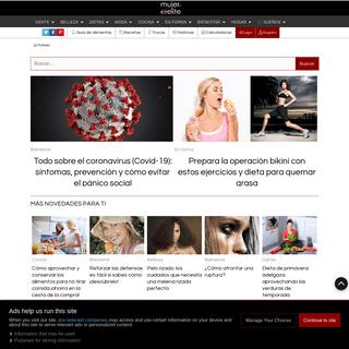 MujerdeElite - revista femenina de Belleza, moda, dietas, nutrición, salud, fitness, cocina