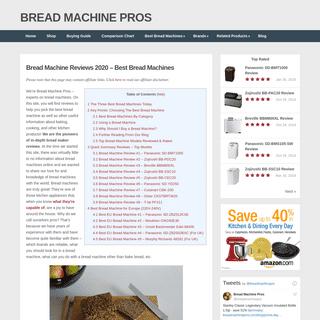 Bread Machine Reviews 2020 – Best Bread Machines