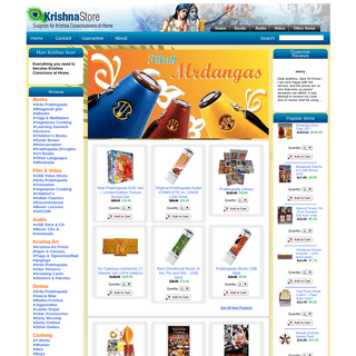 ArchiveBay.com - krishnastore.in - Krishna Store- Supplies for Krishna Consciousness at Home