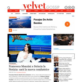 Francesca Manzini a Striscia la Notizia- sarà la nuova conduttrice - VelvetGossip