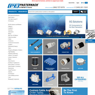 Cables, Coaxial Cable, Cable Connectors, Adapters, Attenuators, Microwave Parts