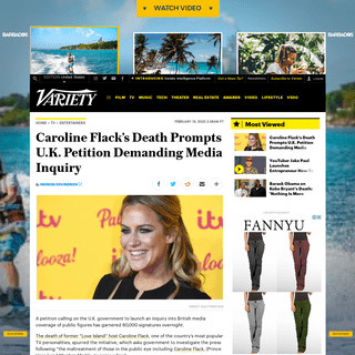 ArchiveBay.com - variety.com/2020/tv/global/caroline-flacks-death-prompts-u-k-petition-demanding-media-inquiry-1203505302/ - Caroline Flack's Death Prompts Petition Calling for Media Inquiry – Variety