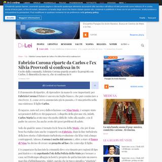 ArchiveBay.com - dilei.it/vip/fabrizio-corona-carlos-silvia-provvedi-confessione/686976/ - Fabrizio Corona riparte da Carlos e l'ex Silvia Provvedi si confessa in tv - DiLei