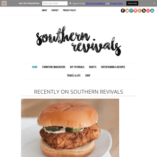 Southern Revivals - A DIY, home decor, lifestyle and interior design blog based near Savannah, GA.