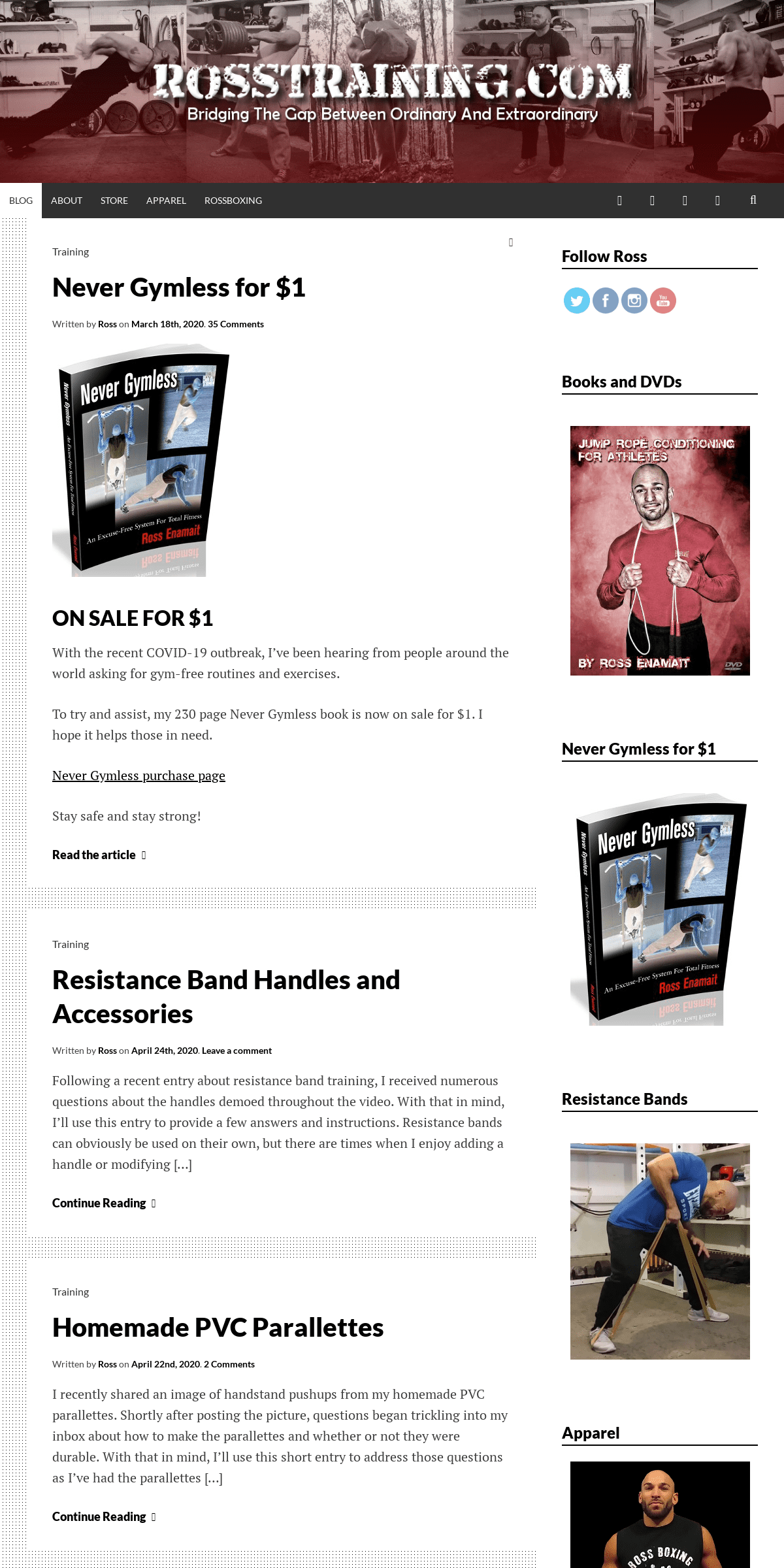 RossTraining.com - Low-tech, high-effect training solutions for beast mode aficionados and fitness enthusiasts