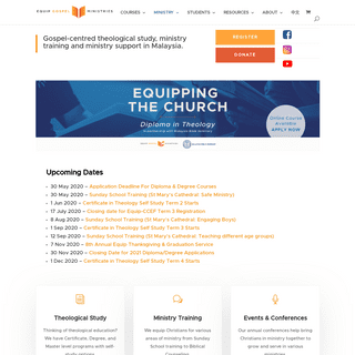 Equip Gospel Ministries - Gospel-centred theological study, ministry training and ministry support in Malaysia.