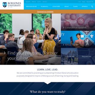 Bob Jones University - Accredited Christian Liberal Arts University