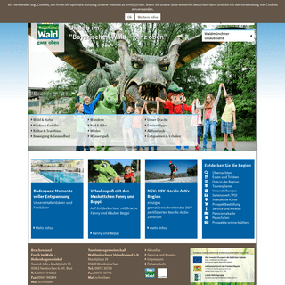 Urlaub im Bayerischen Wald - ganz oben